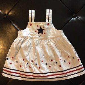 Red, White, and blue baby girl dress